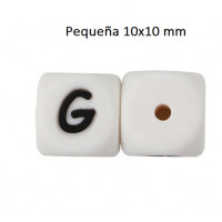 Cubo letra silicona 10x10 mm- Premium - Letra G
