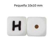 Cubo letra silicona 10x10 mm- Premium - Letra H