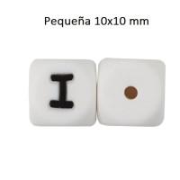 Cubo letra silicona 10x10 mm- Premium - Letra I