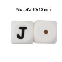 Cubo letra silicona 10x10 mm- Premium - Letra J