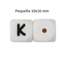 Cubo letra silicona 10x10 mm- Premium - Letra K