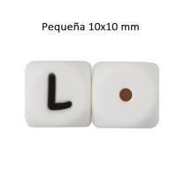 Cubo letra silicona 10x10 mm- Premium - Letra L