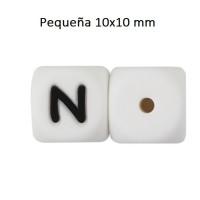 Cubo letra silicona 10x10 mm- Premium - Letra N