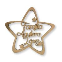 Nombre personalizado - Estrella grande  20 cm - POR ENCARGO  (15 días aprox)