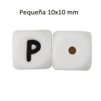 Cubo letra silicona 10x10 mm- Premium - Letra P