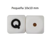 Cubo letra silicona 10x10 mm- Premium - Letra Q