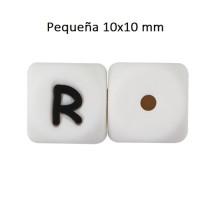 Cubo letra silicona 10x10 mm- Premium - Letra R