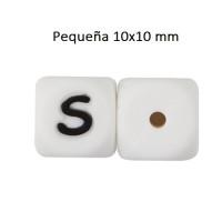 Cubo letra silicona 10x10 mm- Premium - Letra S