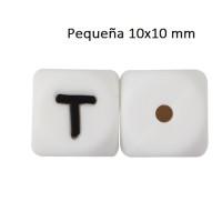 Cubo letra silicona 10x10 mm- Premium - Letra T
