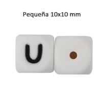 Cubo letra silicona 10x10 mm- Premium - Letra U