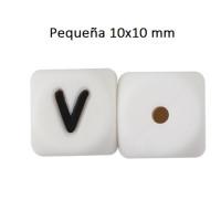 Cubo letra silicona 10x10 mm- Premium - Letra V