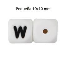Cubo letra silicona 10x10 mm- Premium - Letra W