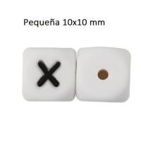 Cubo letra silicona 10x10 mm- Premium - Letra X