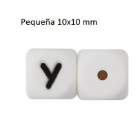 Cubo letra silicona 10x10 mm- Premium - Letra Y