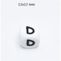 Cubo letra silicona 12x12 mm- Premium - Letra D