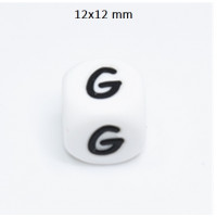 Cubo letra silicona 12x12 mm- Premium - Letra G