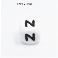 Cubo letra silicona 12x12 mm- Premium - Letra N