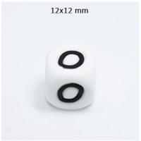 Cubo letra silicona 12x12 mm- Premium - Letra O