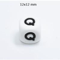 Cubo letra silicona 12x12 mm- Premium - Letra Q