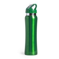 Botella de Acero con caña extraible capacidad  800 mL - Color Verde (grabar)