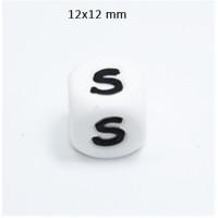 Cubo letra silicona 12x12 mm- Premium - Letra S