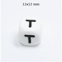 Cubo letra silicona 12x12 mm- Premium - Letra T