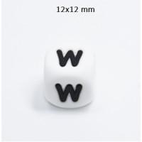 Cubo letra silicona 12x12 mm- Premium - Letra W