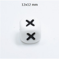 Cubo letra silicona 12x12 mm- Premium - Letra X