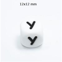 Cubo letra silicona 12x12 mm- Premium - Letra Y