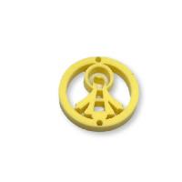 Plexy amarillo pastel - Entrepieza circulo Virgen de la Milagrosa 20 mm