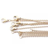 Cadena gargantilla fina de acero dorado eslabones 1.5 mm - 50 cm