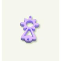 Plexy lila pastel - Entrepieza Virgen del Covadonga 20x10  mm