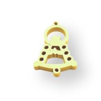 Plexy amarillo pastel - Entrepieza Virgen del Rocio 25x17 mm