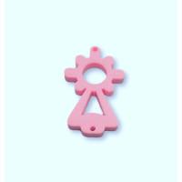 Plexy rosa pastel - Entrepieza Virgen del Pilar 25x13 mm