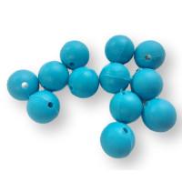 Bola de silicona 10 mm- Color Turquesa oscuro 34