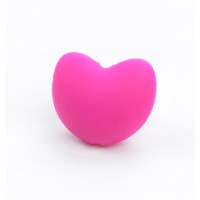 Corazon  de silicona 3D 20x17mm- Color Fucsia 05