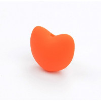 Corazon  de silicona 3D 20x17mm- Color Naranja 13