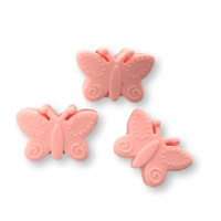 Mariposa de silicona 30x21 mm- Color Rosa pastel 37