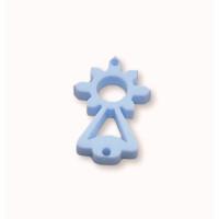 Plexy azul pastel - Entrepieza Virgen del Covadonga 20x10  mm