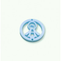 Plexy azul pastel - Entrepieza circulo Virgen de la Milagrosa 20 mm