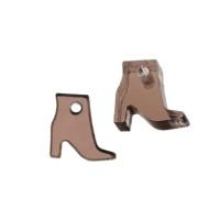 Plexy marron espejo - Colgante bota botin 11x10 mm