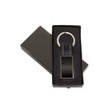 Llavero regalo metalico negro en cajita 80x23 mm ( grabar)