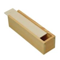 Cajita de madera estilo plumier (tapa deslizable) 20x5x4.5cm