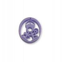 Plexy lila pastel - Entrepieza y colgante Virgen de la Fuensanta 25 mm