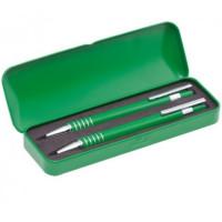 Set regalo cajita metal con boligrafo y portaminas ( grabables)- Color Verde