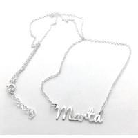 Collar plata de ley - Nombre Tipografia redondeada (POR ENCARGO)