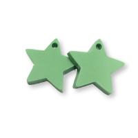 Plexy verde pastel - Colgante estrella 15 mm, int 1.2 mm