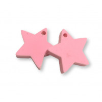 Plexy rosa pastel - Colgante estrella 15 mm, int 1.2 mm