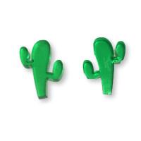 Plexy verde - Aplique cactus Mod.1 15 mm para pegar ( ideal pendientes) 2 uds - 1 par