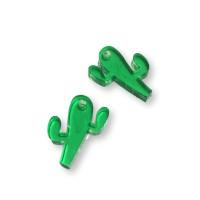 Plexy verde - Colgante cactus 15 mm, int 1.2 mm